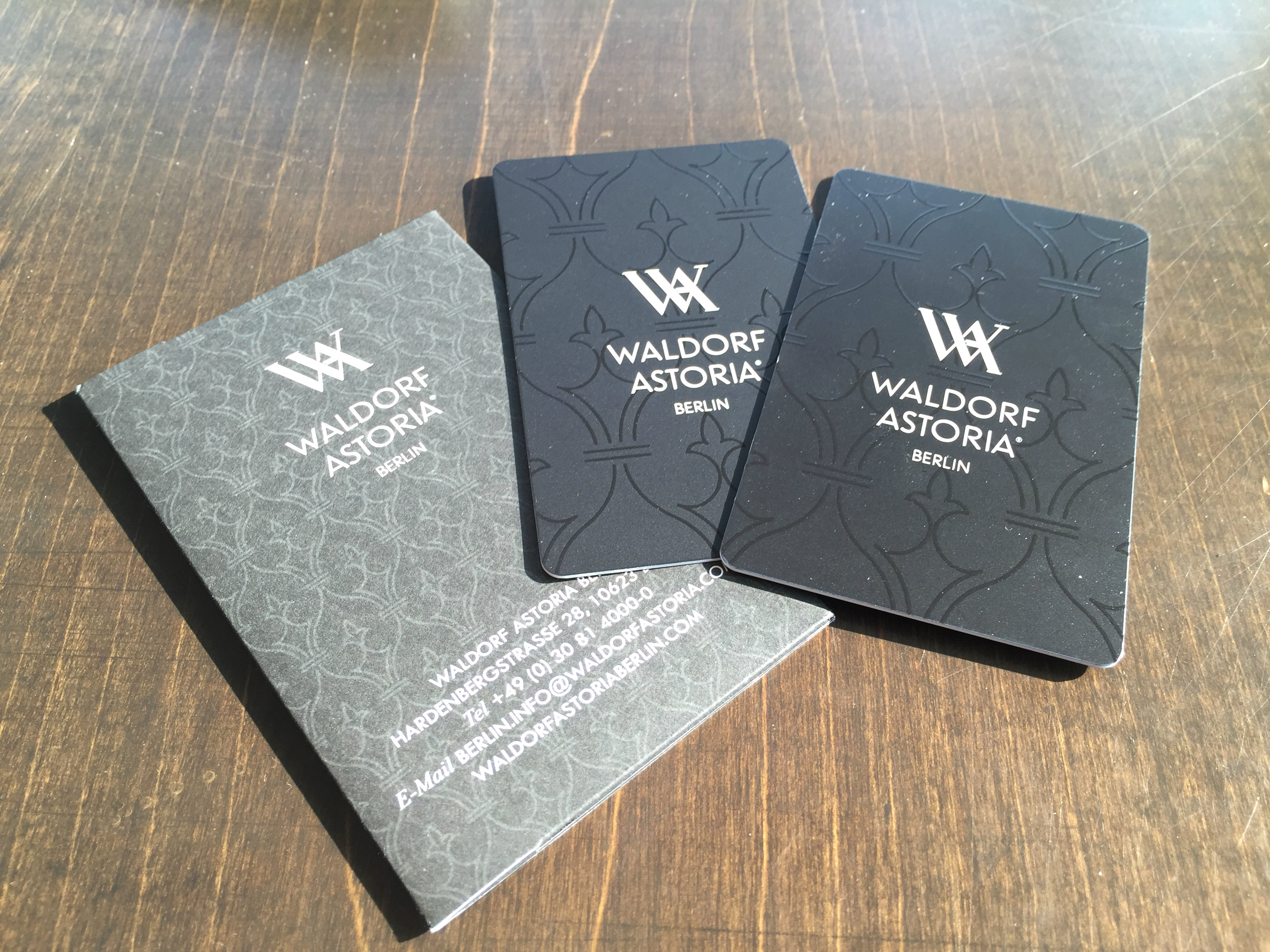 Waldorf Astoria Berlin keycard