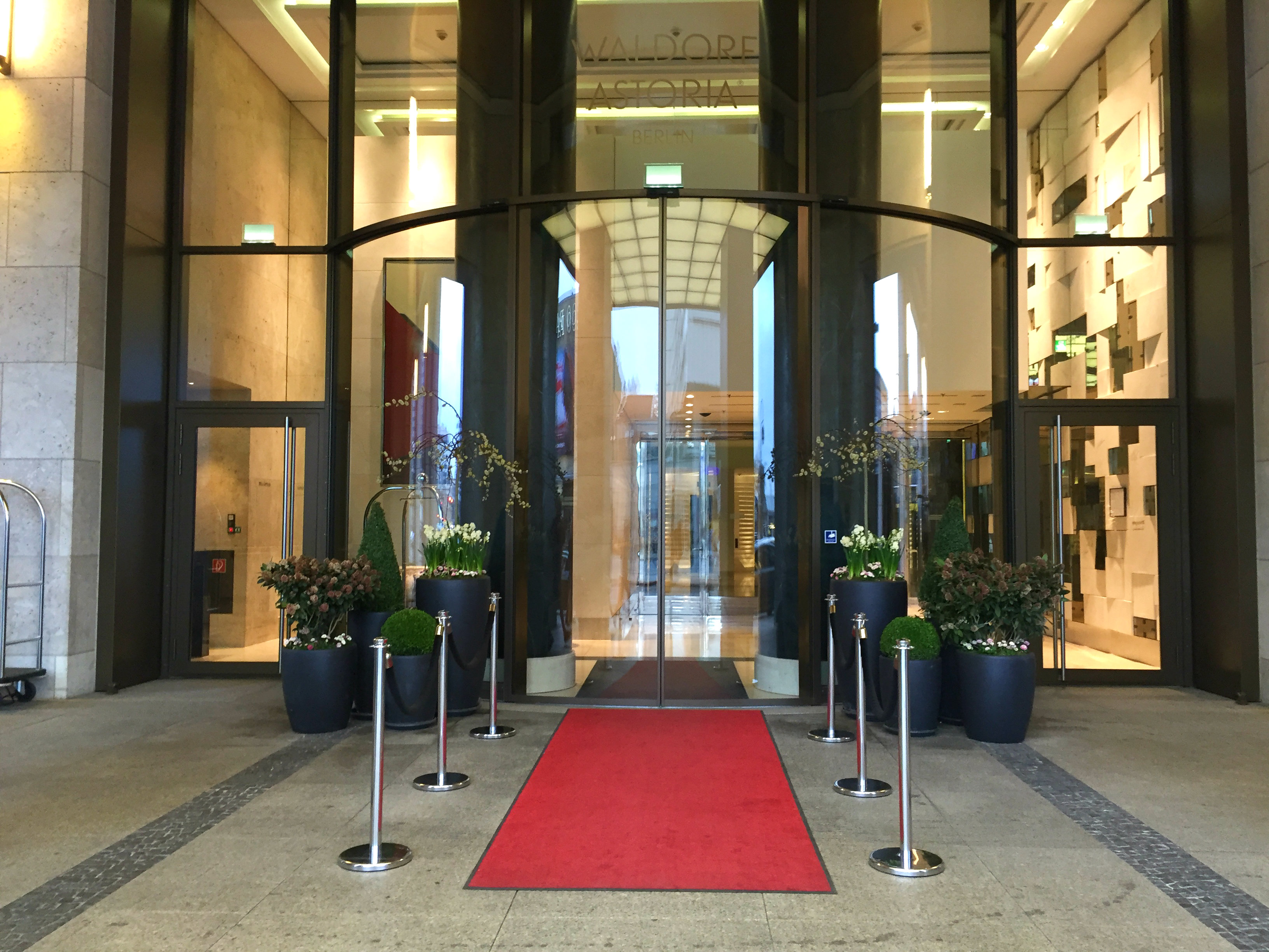 Waldorf Astoria Berlin front door