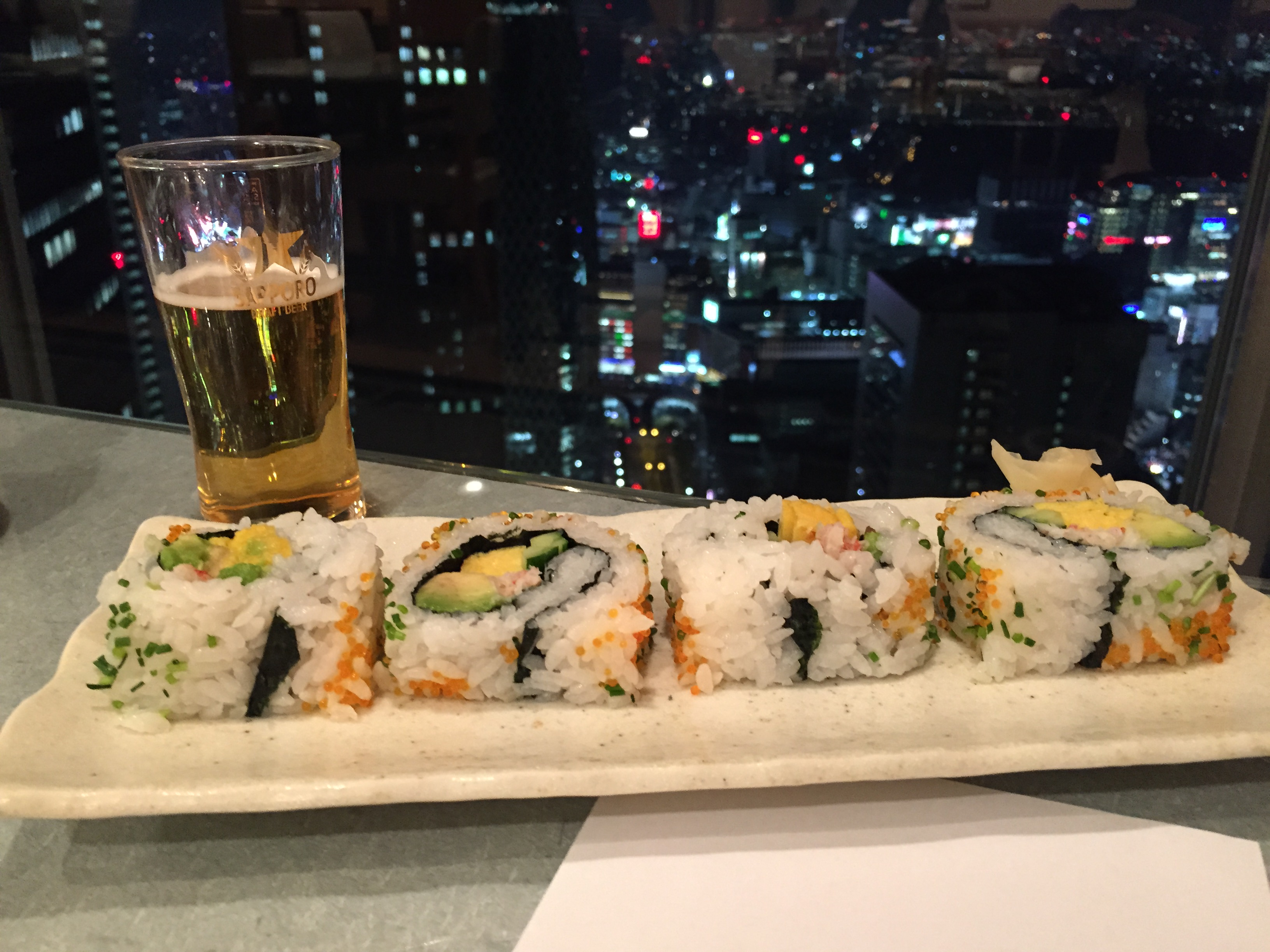 The sushi might taste even better with a view like this